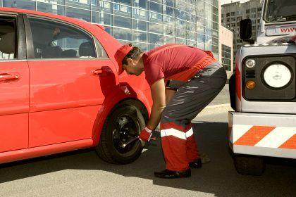 замена колеса в СПб